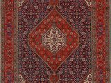 7×9 Blue area Rug Tabriz Persian Geometric Navy Blue Red area Rug 7×9