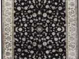 8 by 10 area Rugs Cheap E Of A Kind Walton Hand Knotted Black Ivory 8 X 10 area Rug