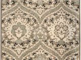 "8 by 7 area Rugs Superior Designer Augusta Collection area Rug Modern area Rug 8 Mm Pile Scalloped Floral Design with Jute Backing Light Blue 2 7"" X 8"