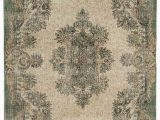 "8 by 7 area Rugs Turkish Vintage area Rug 5 8"" X 8 7"" 68 In X 103 In"