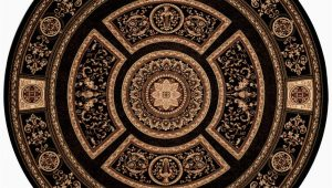 8 Foot Round Black area Rug Home Dynamix Empire Black 8 Ft Indoor Round area Rug 8r