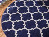 8 Ft Round Rug Blue Dark Blue 12 2 X 12 2 Lattice Round Rug