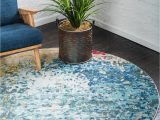 8 Ft Round Rug Blue Hyacinth Blue 6 Ft Round area Rug In 2020