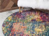 8 Ft Round Rug Blue theia Multi 8 Ft Round area Rug In 2020