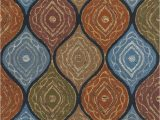 8 Ft Square area Rugs Amazon Kas Rugs Rustic Square Mocha Navy 8 Ft X 10 Ft