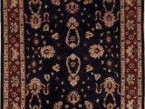 """8 Ft Square area Rugs Pishavar Blue Square Hand Knotted 6 8"""" X 8 6"""" area Rug 251"""