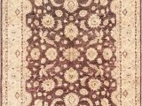 """8 X 10 Cream area Rug E Of A Kind Ibanez Hand Knotted 2010s Ushak Brown Cream 8 X 10 2"""" Wool area Rug"""
