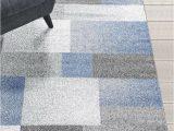 8 X 10 Grey area Rug Rugs area Rugs Carpets 8×10 Rug Modern Large Floor Room Blue