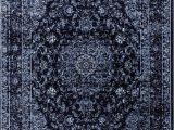 8 X 10 Navy area Rug Graphite Navy Blue Vintage area Rug