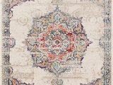 8 X 10 Round area Rugs Lux Weavers 2937 Multi Colored oriental 8 X 10 area Rug