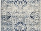 8 X 10 Round area Rugs Studio Collection Vintage French Aubusson Design Contemporary Modern area Rug Rugs 3 Options Aubusson Ivory Navy 8 X 10
