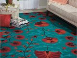 """8 X 10 Teal area Rug Nourison Suzani Teal Rectangle area Rug 8 Feet by 10 Feet 6 Inches 8 X 10 6"""""""