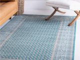 8 X 10 Teal area Rug Unique Loom Williamsburg Collection Traditional Border Teal area Rug 8 0 X 10 0