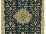"""8 X 12 Blue Rug Blue New Handwoven Turkish Kilim Rug 8 8"""" X 12 2"""" 104 In X 146 In"""