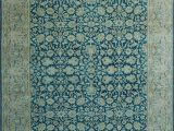 """8 X 12 Blue Rug E Of A Kind Bourke Hand Knotted Traditional Style Blue Beige 9 8"""" X 12 9"""" Wool area Rug"""