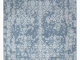 """8 X 12 Blue Rug E Of A Kind Damask Hand Knotted 8 11"""" X 12 Wool Blue area Rug"""