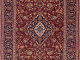 8 X 12 Blue Rug Red 8 X 12 Kashan Persian Rug