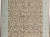 """8 X 14 area Rug E Of A Kind Hand Knotted Brown Ivory 11 8"""" X 14 8"""" Wool area Rug"""