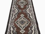 8 X 15 area Rug Emirates Traditional Long Runner Persian area Rug Brown Burgundy Black Beige Design 520 31 Inch X15 Feet 8 Inch