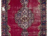 """8 X 8 area Rugs Sale Turkish Vintage area Rug 5 8"""" X 8 11"""" 68 In X 107 In"""