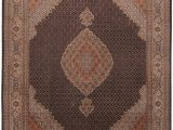 """8ft by 8ft area Rug Mahi Beige Square Hand Knotted 6 7"""" X 8 6"""" area Rug 254"""