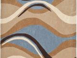 8×10 Blue and Brown area Rugs Safavieh Modern Art Mda617a Blue Brown area Rug Last Chance
