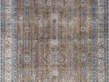 8×10 Flat Weave area Rugs Old Villa Shrouded Floral Flatweave Olive Rug