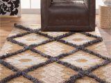 8×10 Flat Weave area Rugs southwest Bohemian Tan Ivory Gray Flatweave Wool area Rug