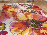 """8×10 Multi Color area Rugs Modern Bright Flowers Non Slip Non Skid area Rug 8 X 10 7 10"""" X 10 Multi"""