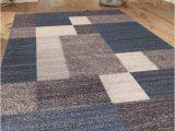 8×10 Non Slip area Rugs Brighouse Geometric Blue Gray area Rug