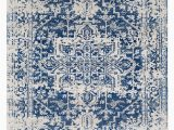 """9 by 9 area Rugs Home Accents Harput 6 7"""" X 9 area Rug Dark Blue"""