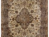 """9 by 9 area Rugs Turkish Vintage area Rug 6 8"""" X 9 9"""" 80 In X 117 In"""
