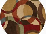 9 Foot Round area Rug Artistic Weavers Sablet Brown 9 Ft 9 Inch X 9 Ft 9 Inch