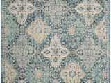9 Foot Square area Rugs Evoke Cara Light Blue Ivory 6 Ft 7 Inch X 9 Ft Indoor