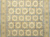 9 Foot Square area Rugs solo Rugs Khotan Hand Knotted area Rug In Hazelnut Wool 9 X 12 Ft