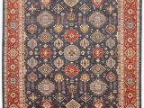 """9 Foot Square area Rugs Zigler Blue Square Hand Knotted 8 11"""" X 9 11"""" area Rug 254"""