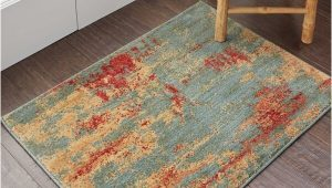Abstract area Rug for Sale Shop Nourison somerset Teal Multicolor Abstract area Rug