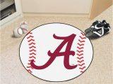 Alabama Crimson Tide area Rug Alabama Crimson Tide 27 Baseball Interior Rug