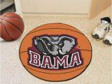 Alabama Crimson Tide area Rug Alabama Crimson Tide 27 Basketball Interior Rug