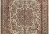 "Aleyna Gray Ivory area Rug E Of A Kind Bellwood Hand Knotted 1960s Ivory 10 1"" X 14 1"" Wool area Rug"