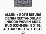Allen Roth area Rug 8×10 Allen Roth isburg Denim Rectangular Indoor Woven area Rug 8ft — 10ft