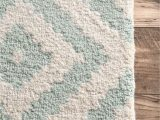 "Alvarez Mineral Blue Hand Tufted Rug Hand Tufted Kellee Rug Color Aqua Size 7 6"" X 9 6"" In"