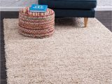 Amazon 3 by 5 area Rugs Unique Loom solo solid Shag Collection Modern Plush Taupe area Rug 3 3 X 5 3