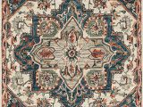 """Amazon area Rugs 5 X 7 Loloi Victoria Collection area Rug 5 0"""" X 7 6"""" Blue Red"""