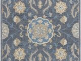 "Amazon area Rugs 8×10 Blue Rizzy Home Resonant Collection Wool area Rug 2 6"" X 8 Coco Tan Blue Gray Floral"