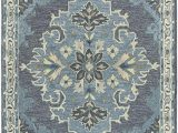 Amazon area Rugs 8×10 Blue Rizzy Home Resonant Collection Wool area Rug 8 X 10 Dark Gray Blue Gray Gray Blue Natural Ivory Central Medallion