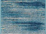 "Amazon area Rugs 8×10 Blue Well Woven Layla Stripes Blue Tribal area Rug 20×31 20"" X 31"" Mat soft Plush Faded Abstract Modern Carpet"