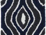 Amazon Navy Blue Rug Amazon Superior Ogee Shag Hand Tufted area Rug 2 X 4