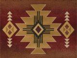 "American Indian Style area Rugs Arizona Rug Color Crimson Size 7 10"" X 10 6"