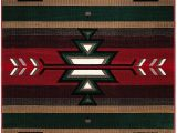 """American Indian Style area Rugs Champion Rugs southwest southwestern Native American Indian Modern area Rug Carpet Red 7 8"""" X 10 8"""""""